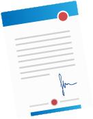 Das Logo von MacNulis symbolisiert einen gestalteten Briefbogen